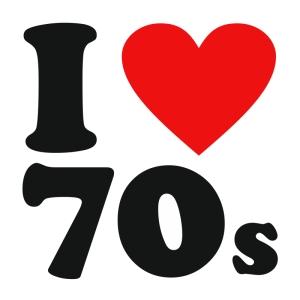 i love the 70s t shirt white